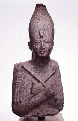 The statue identified as Ramesses II